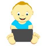 Bambino con il calcolatore illustrazione di stock