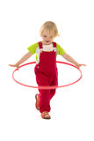 Bambino con il cerchio di hula Immagini Stock Libere da Diritti