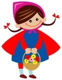 Bambino con il cestino del fiore illustrazione di stock