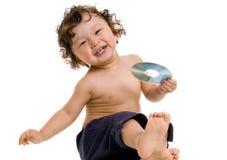 Bambino con il disco. Fotografia Stock Libera da Diritti