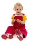 Bambino con il fiore Immagine Stock