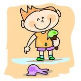 Bambino con il gelato Immagini Stock Libere da Diritti