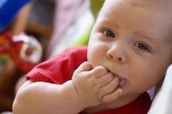 Bambino con il giocattolo Fotografia Stock