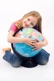 Bambino con il globo Fotografia Stock Libera da Diritti
