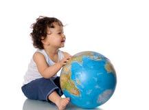 Bambino con il globo. Fotografia Stock Libera da Diritti