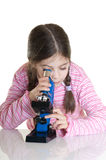 Bambino con il microscopio Immagine Stock Libera da Diritti