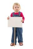 Bambino con il posto Fotografia Stock Libera da Diritti