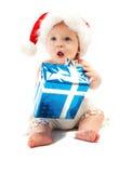 Bambino con il presente fotografie stock
