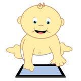Bambino con il ridurre in pani illustrazione vettoriale