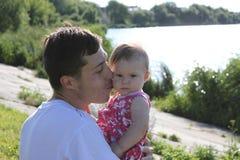 Bambino con il suo padre Fotografia Stock Libera da Diritti