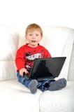 Bambino con il taccuino Fotografia Stock