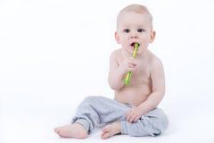 Bambino con il toothbrush Immagine Stock