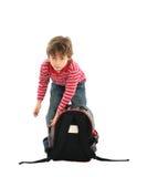 Bambino con il vostro sacchetto Fotografia Stock