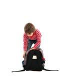 Bambino con il vostro sacchetto Fotografie Stock