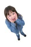 Bambino con l'espressione sorpresa fotografia stock