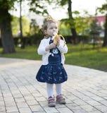 Bambino con la banana Immagine Stock Libera da Diritti