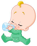 Bambino con la bottiglia illustrazione vettoriale