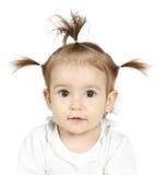 Bambino con la coda di cavallo divertente Immagine Stock