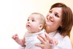 Bambino con la madre Fotografia Stock