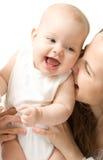 Bambino con la madre Fotografie Stock Libere da Diritti