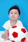 Bambino con la sfera Fotografia Stock Libera da Diritti