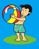 Bambino con la sfera Fotografie Stock Libere da Diritti