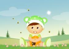 Bambino con le api royalty illustrazione gratis