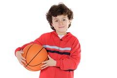 Bambino con pallacanestro Immagine Stock