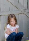 Bambino con un atteggiamento fotografia stock libera da diritti
