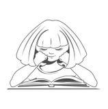 Bambino con un libro Illustrazione Vettoriale