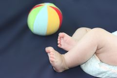 Bambino Concetto dell'infanzia piedi Fotografia Stock Libera da Diritti