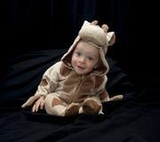 Bambino in costume della mucca Immagini Stock