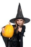 Bambino in costume di Halloween Immagine Stock