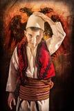 Bambino in costume tradizionale albanese Fotografia Stock Libera da Diritti