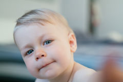 Bambino curioso fotografia stock libera da diritti