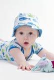Bambino dagli occhi brillanti in cappello del sole fotografia stock libera da diritti