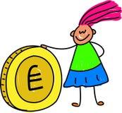 Bambino dei soldi illustrazione vettoriale