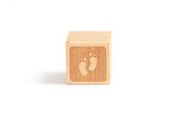 Bambino del blocco di legno Immagini Stock