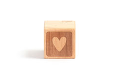 Bambino del blocco di legno Fotografia Stock Libera da Diritti