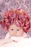 Bambino del cappello del fiore Fotografia Stock