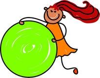 Bambino del cerchio royalty illustrazione gratis