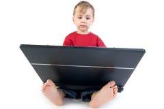 Bambino del computer portatile Immagini Stock Libere da Diritti
