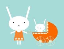 Bambino del coniglietto illustrazione di stock