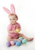 Bambino del coniglietto di pasqua Fotografie Stock Libere da Diritti