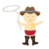 Bambino del cowboy Fotografia Stock Libera da Diritti