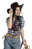Bambino del cowgirl Immagine Stock Libera da Diritti