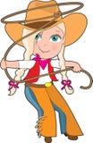 Bambino del Cowgirl royalty illustrazione gratis