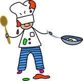 Bambino del cuoco unico illustrazione vettoriale