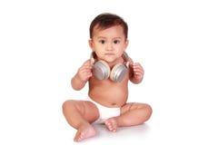 Bambino del DJ Fotografie Stock