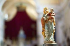 Bambino del Jesus e della Maria Fotografie Stock Libere da Diritti